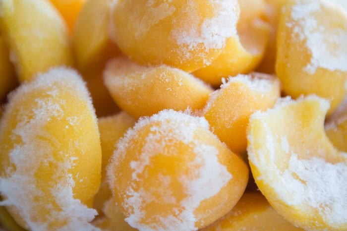 frozen peaches