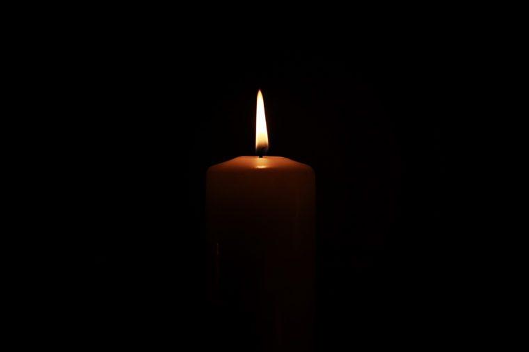 candle light memorial concept