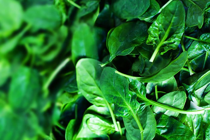 colourful foods | spinach