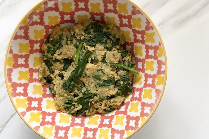 curry and spinach