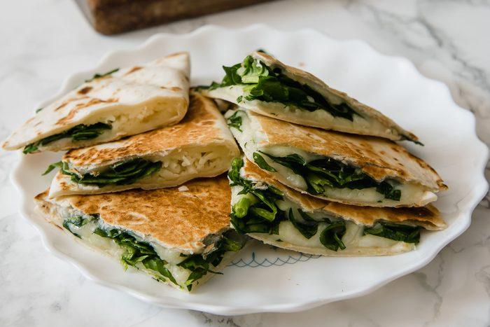 spinach quesadilla