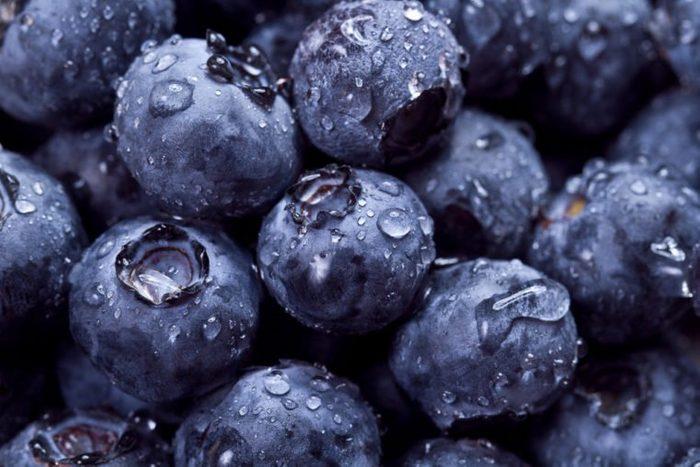 Closeup of fresh blueberries. fruit full of vitamin C