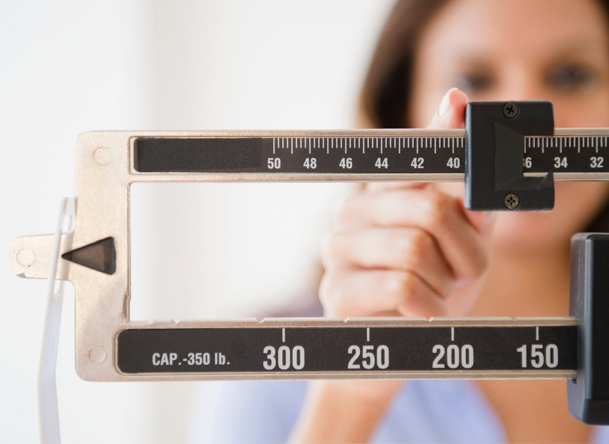 weight scale close up shot