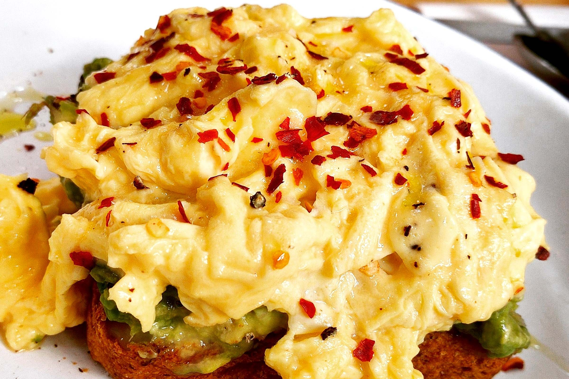 refuel after exercise | scrambled eggs
