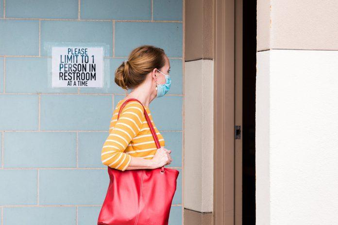 public restroom during coronavirus   public restroom during coronavirus