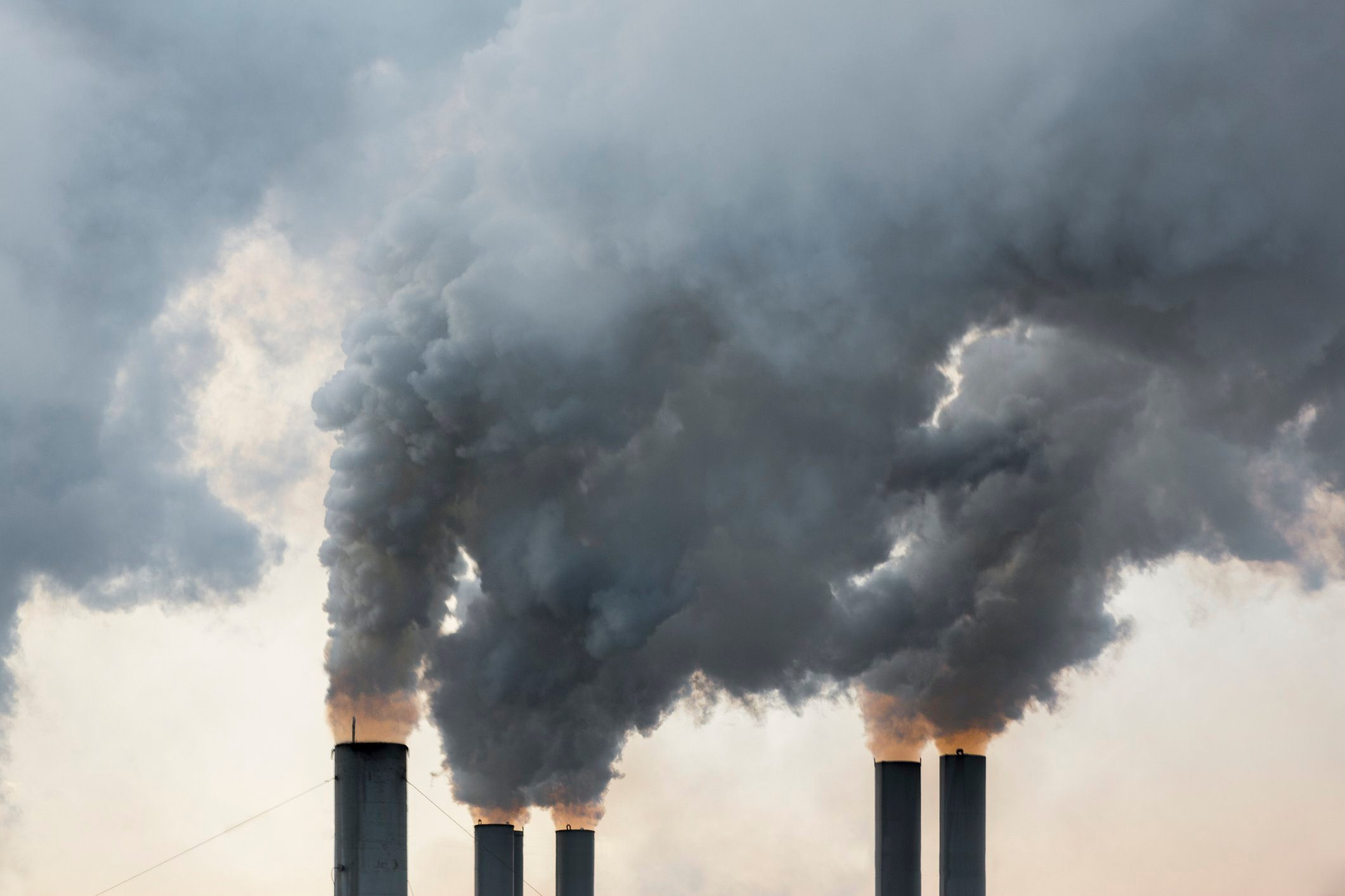 2020   Smoke emerging from chimneys