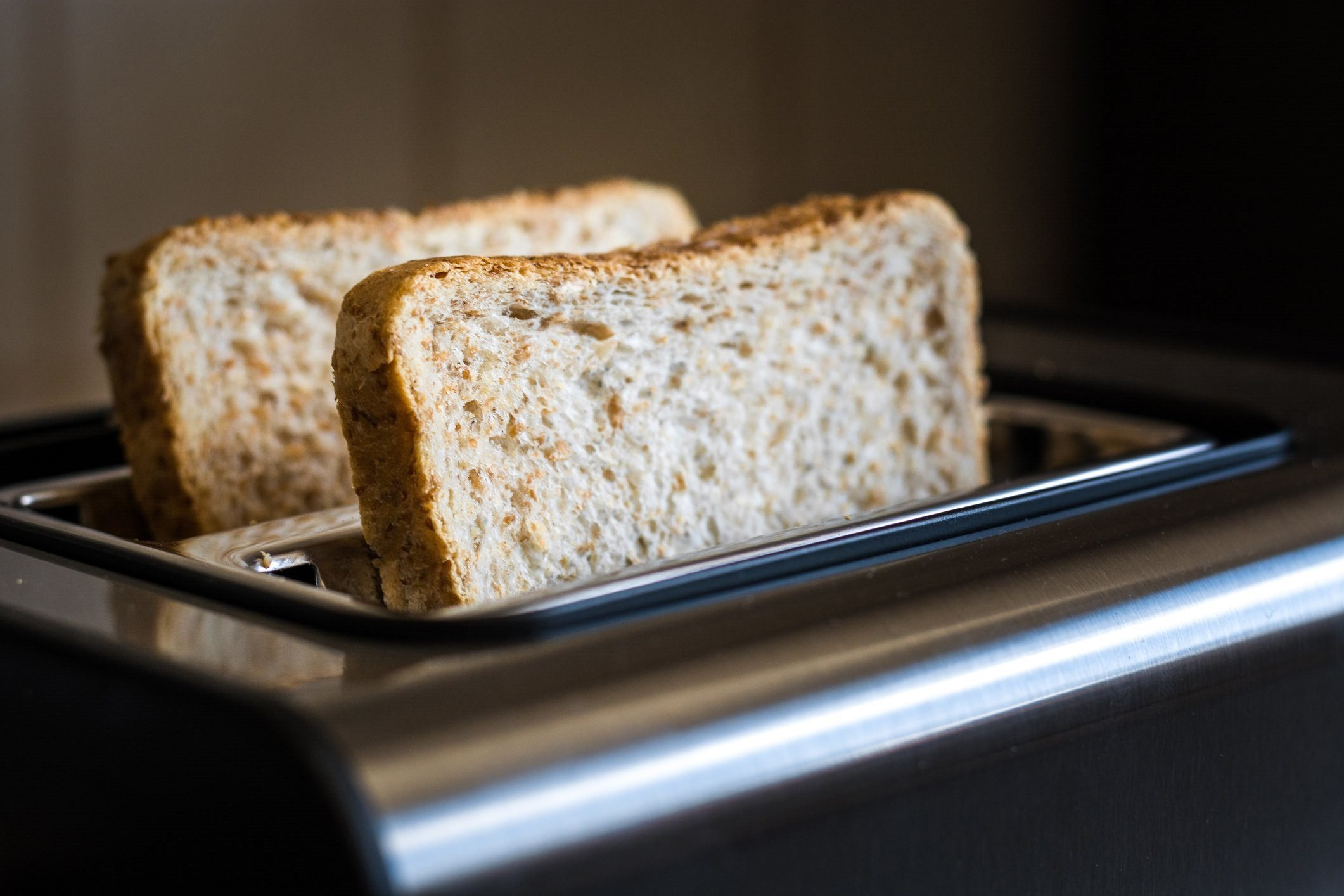 doctors eat for breakfast | close up of bread in toaster