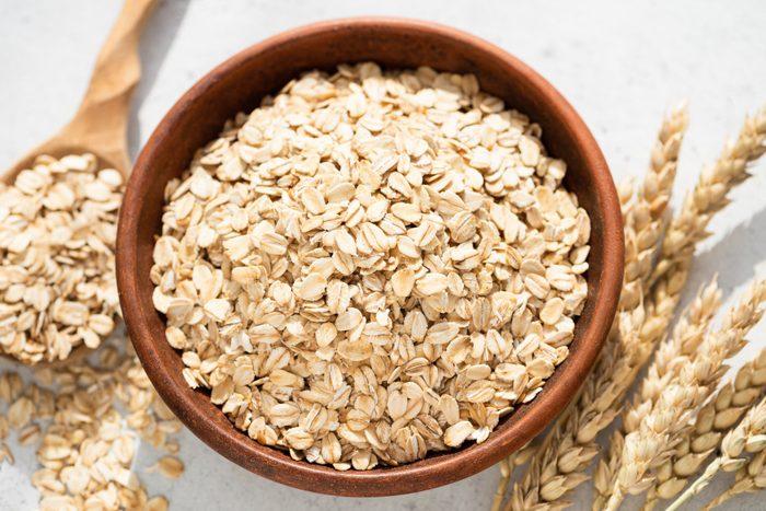 doctors eat for breakfast   overhead shot of oats