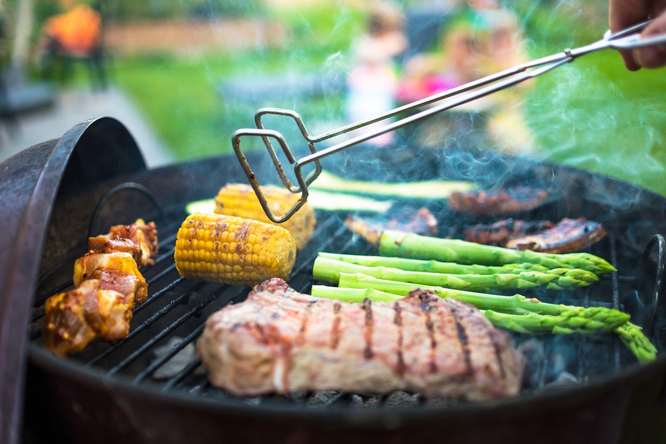 healthier grilling   grilling meat and vegetables