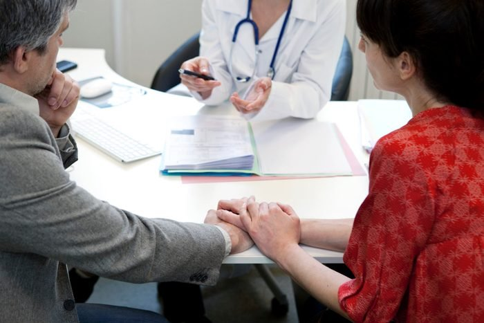 couple having a consultation with fertility doctor for IVF process