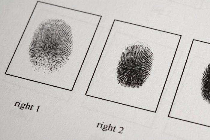 body facts | fingerprints on paper document
