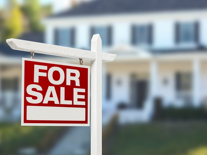 How to make your walk less boring - home for sale sign