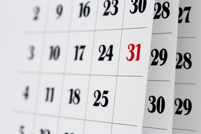 early-onset Alzheimer's   Open calendar pages, closeup