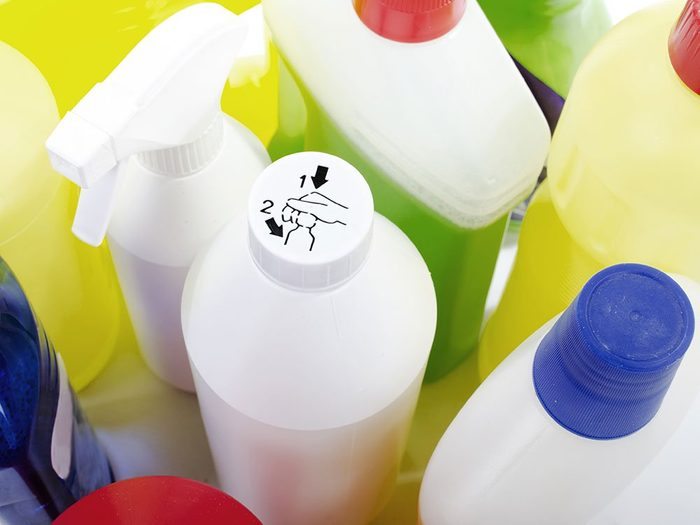 Use nail polish to label poison containers