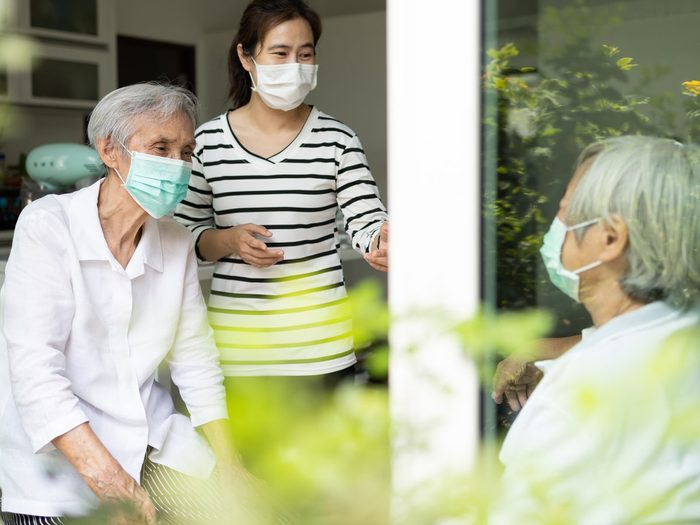 COVID-19 mask facts - seniors in masks