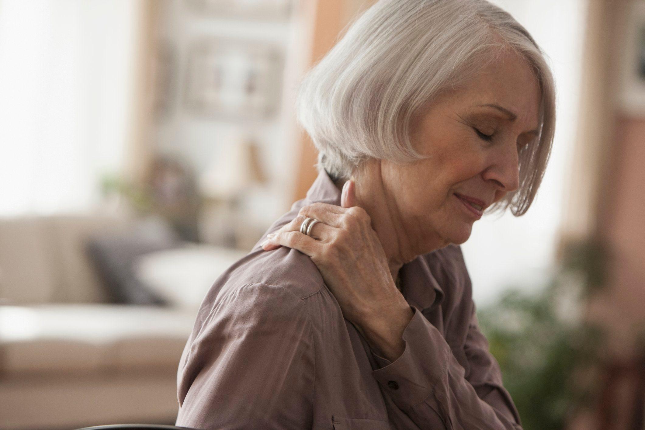 Fibromyalgia | mature woman with shoulder pain