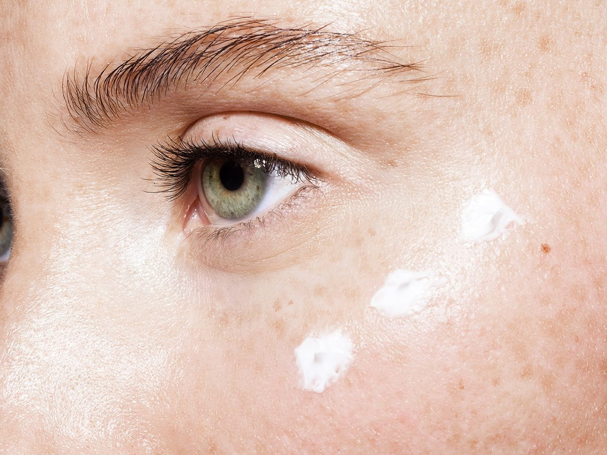 treat and prevent fine lines around eyes | woman's face | eye cream