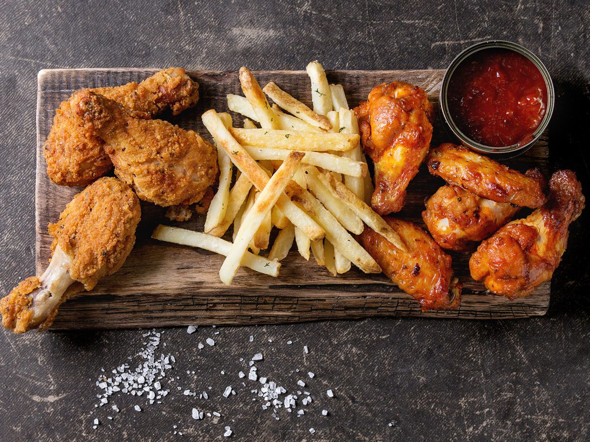 prepared meals nutritionists avoid   fried chicken