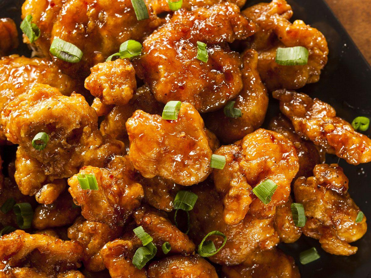 prepared meals nutritionists avoid   orange chicken