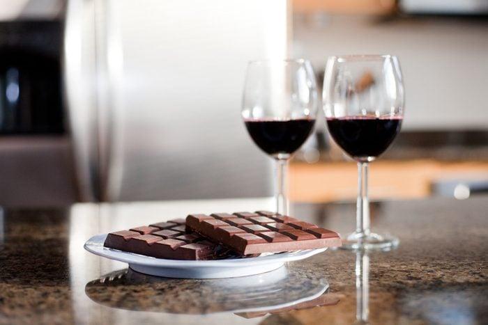 mediterranean diet   wine and chocolate