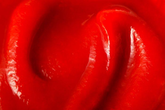 ketchup close up macro shot