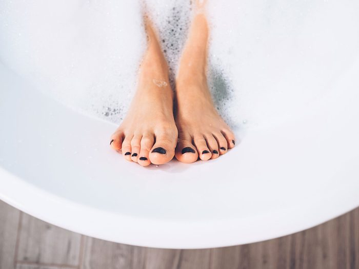 swollen feet   foot bath