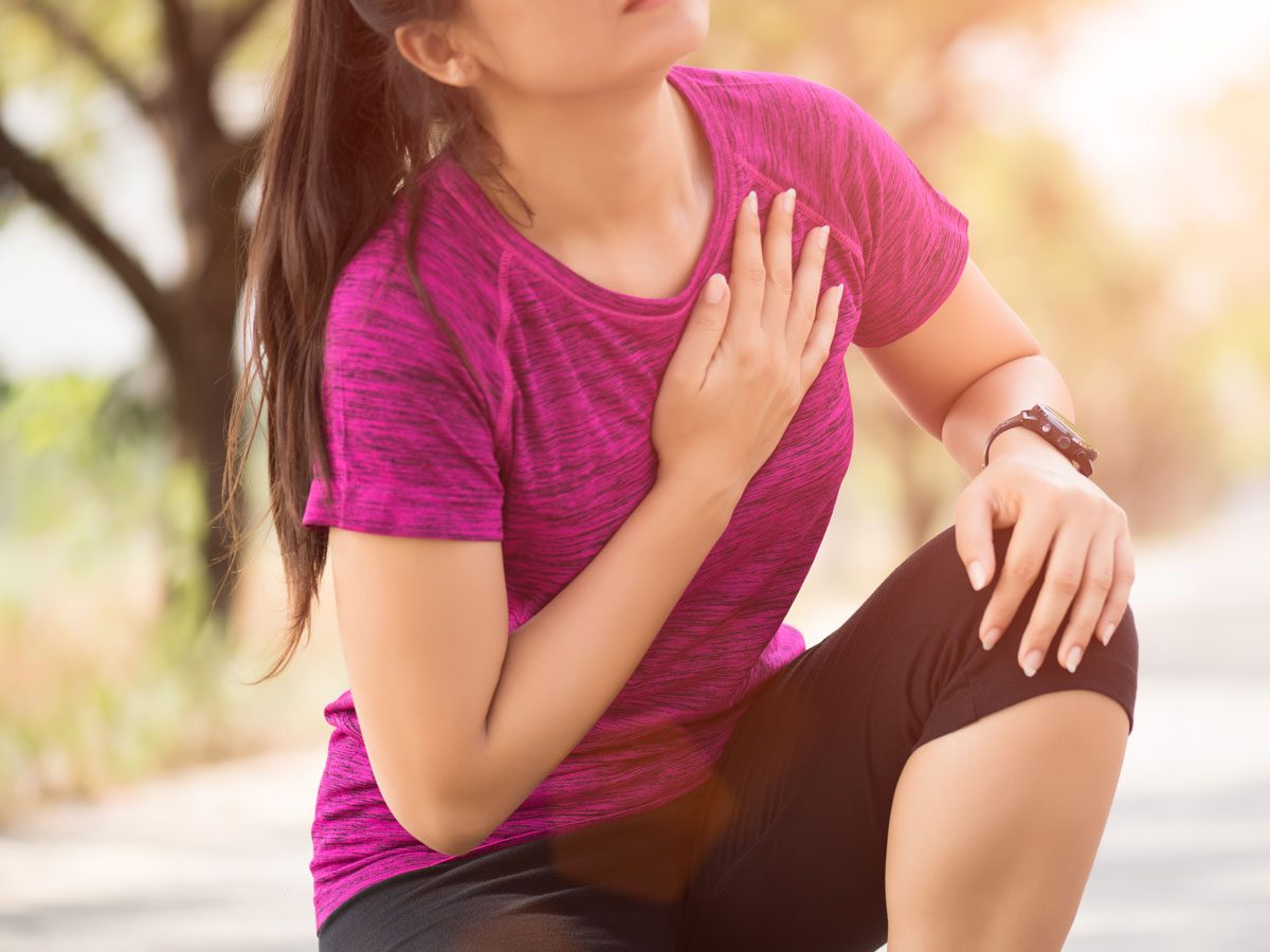 chest pain during exercise
