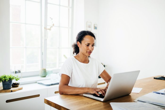 what working from home does to your body | woman working at home | work from home