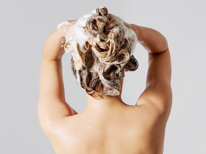 scalp care | woman shampooing