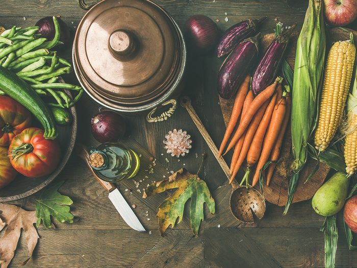 Fall,cooking,background.,ingredients,for,thanksgiving,day,dinner.,flat Lay,of