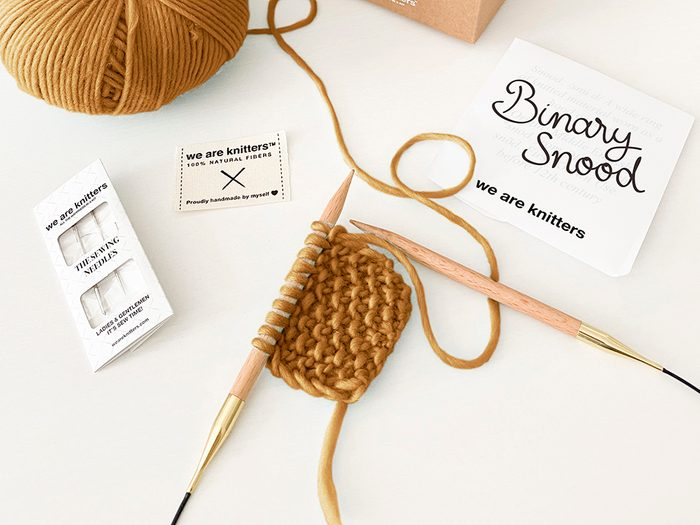 We Are Knitters knitting kit | wellness gifts | best health gift guide