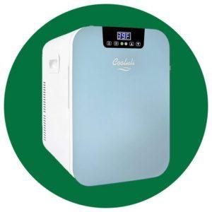 Cooluli Concord Blue 20 Liter Compact Cooler Warmer Mini Fridge