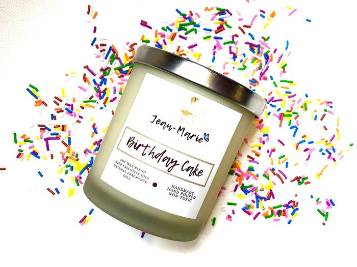 Jean-Marie Candle Co birthday candle | wellness gifts | best health gift guide