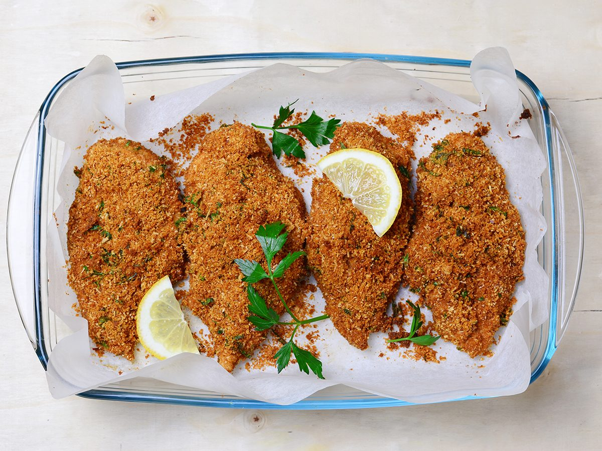 chicken parmesan | made with almond flour