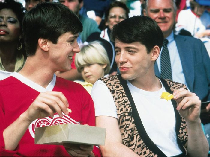 Alan Ruck and Matthew Broderick in Ferris Bueller's Day Off