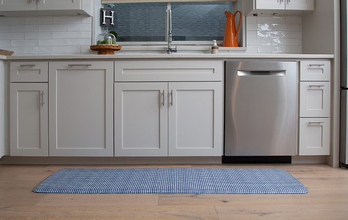 healthier home changes   anti fatigue mat on the ground