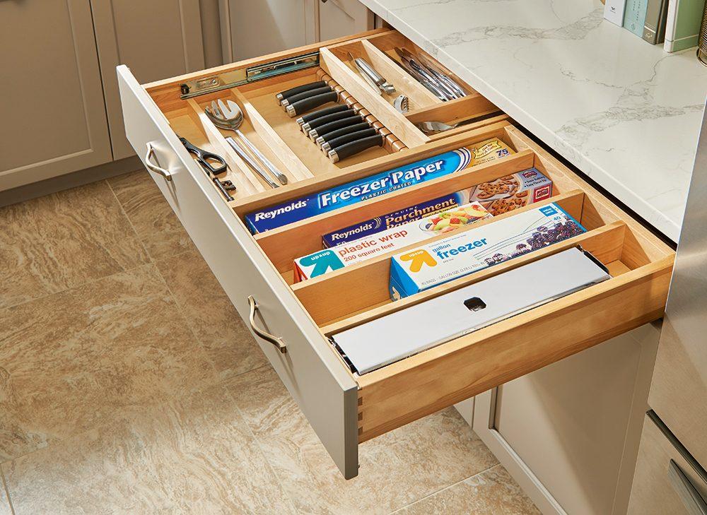 healthier home changes | kitchen drawer organizers