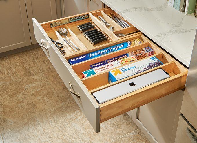 healthier home changes   kitchen drawer organizers