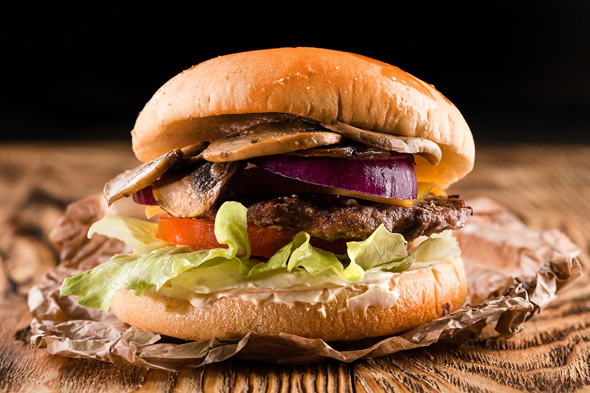 mushroom recipes | mushroom beef burger