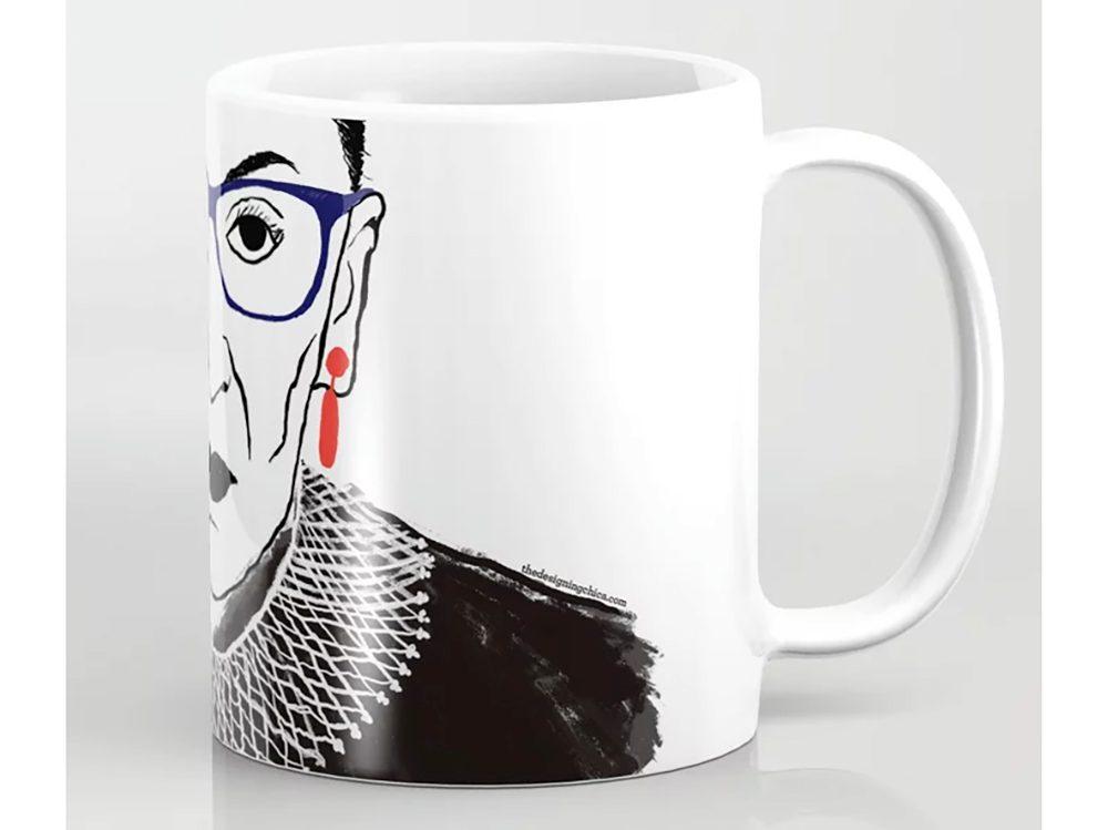 Society6 RBG mug | wellness gifts | best health gift guide