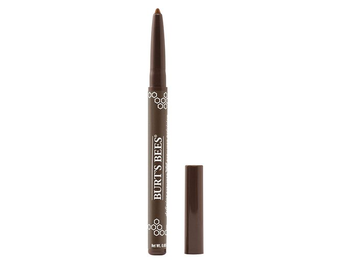 holiday eye with face mask   Burt's Bees eyeliner in bronze