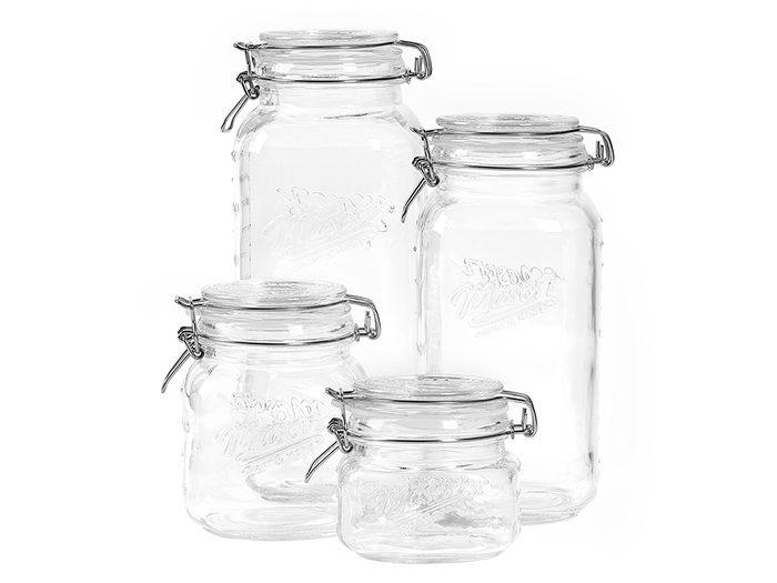 single-use plastic swap | sustainable upgrades eco-friendly home upgrades | glass jars
