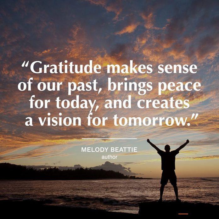 gratitude quotes | gratitude quote on image of sunset