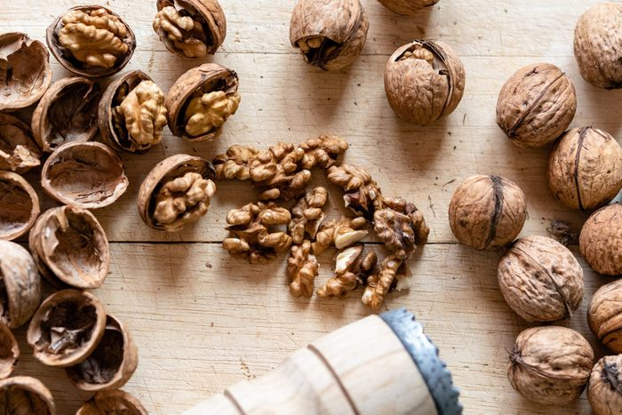 are walnuts good for you? | High Angle View Of Walnuts On Table