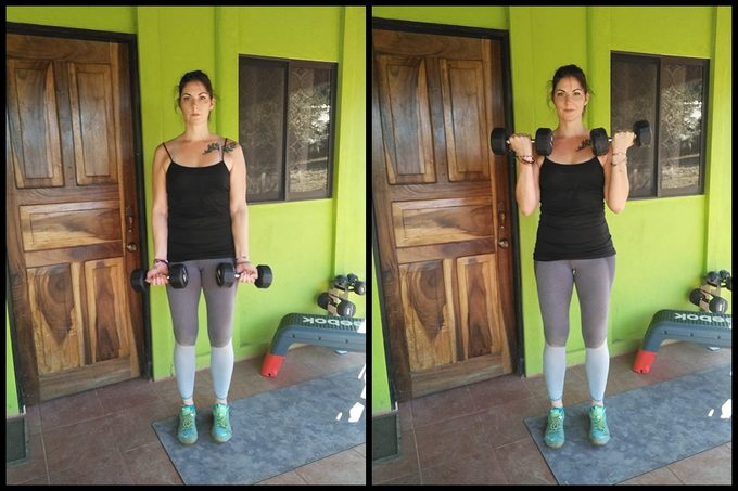 bicep curl arm exercise