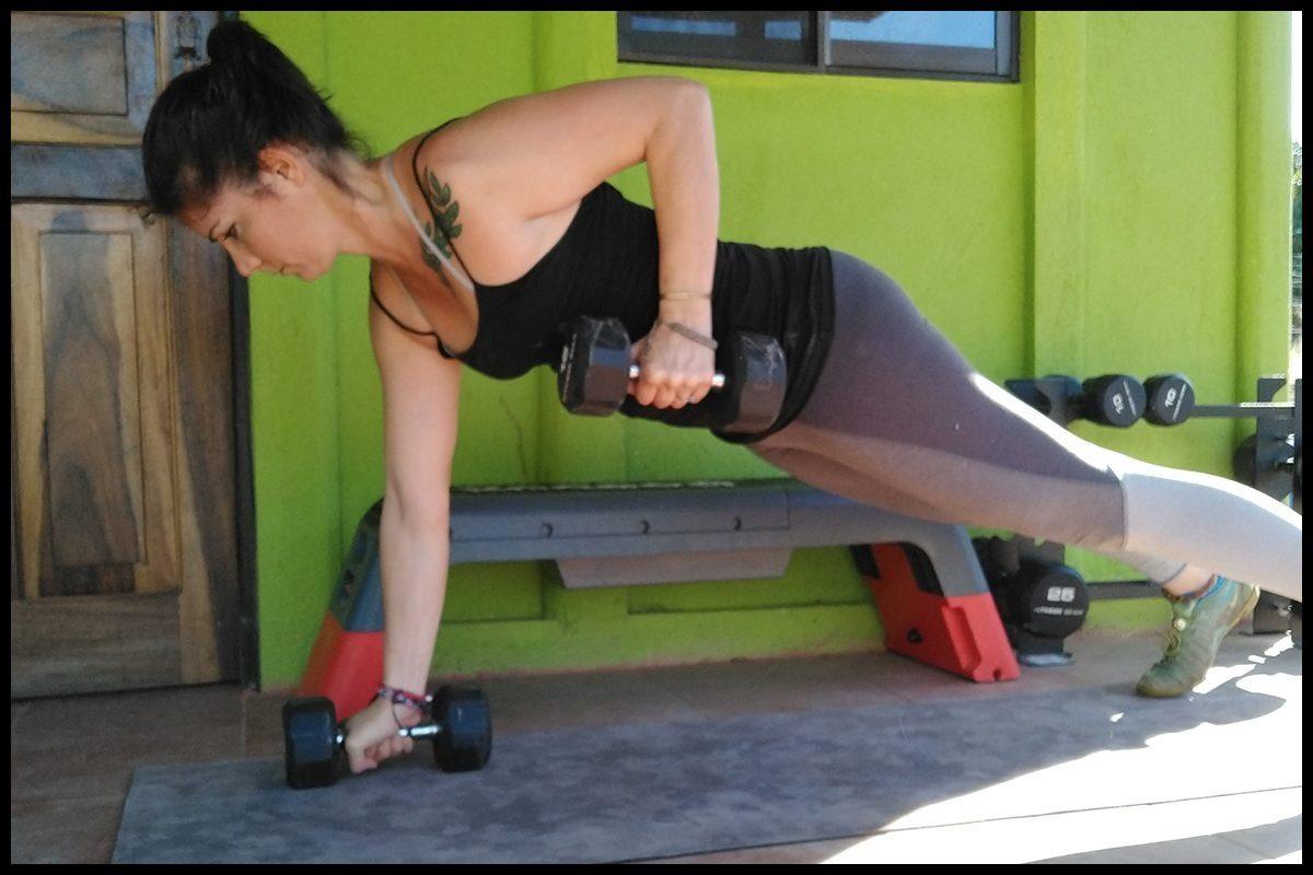 renegade row arm exercise