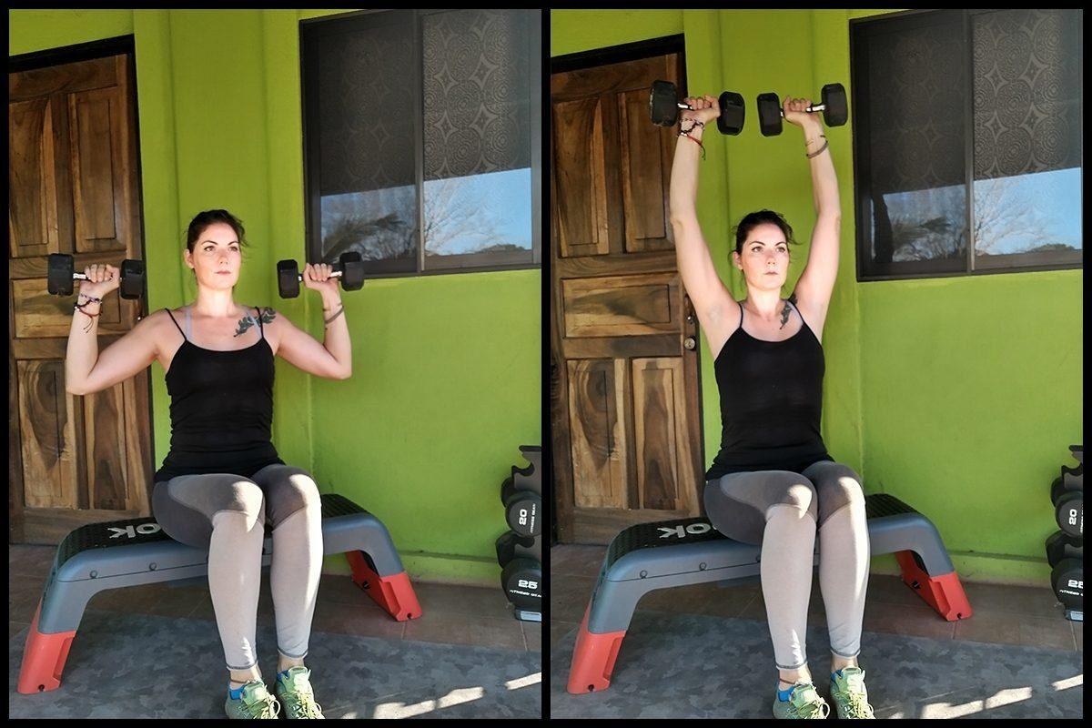 dumbbell shoulder press arm exercise