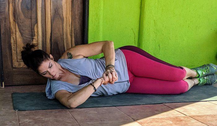 shoulder side sleeper stretch