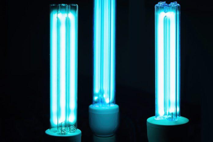 uv air purifier | Uvc Lamp For Sterilization Covid 19 Prevention Concept