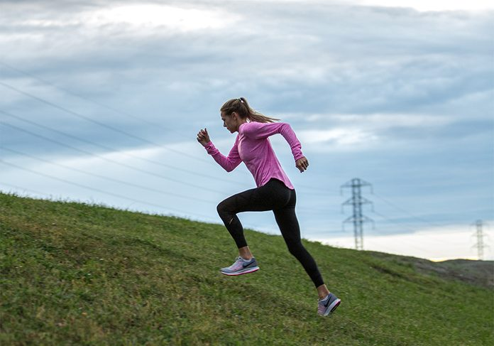 Melissa Bishop | image of olympic runner melissa bishop running up a hill